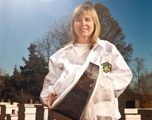 master beekeeper Charlotte Anderson - Carolina Honeybees Farm