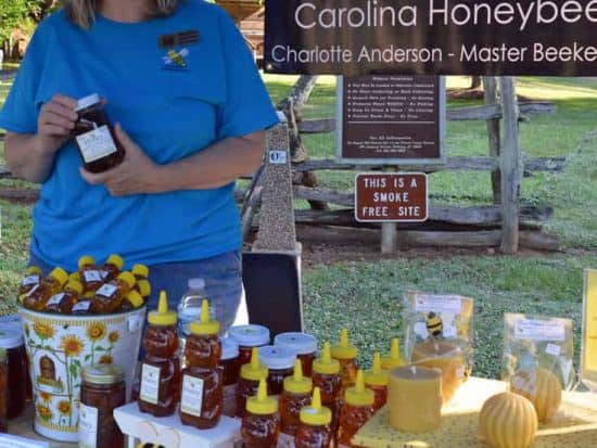 Local Artisan honey from Carolina Honeybees Farm