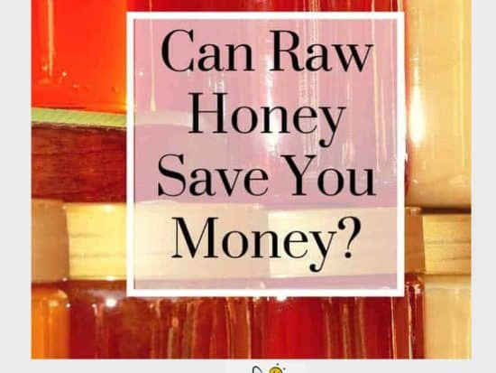 jar of honey - use raw honey to save money
