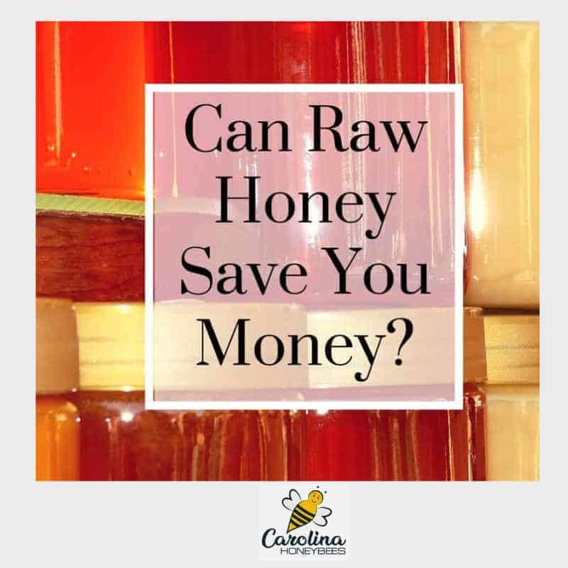jar of honey - use raw honey to save money