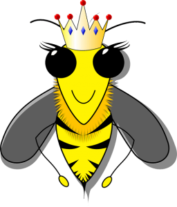 cartoon queen bee