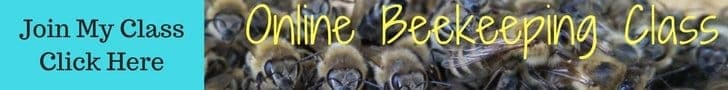 picture of information for Online beekeeping class for new beekeepers.