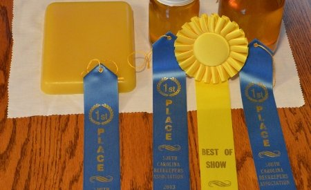 ribbons for clean beeswax at competitions.