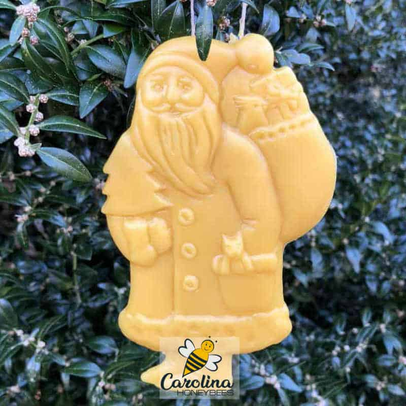 beeswax christmas ornament santa