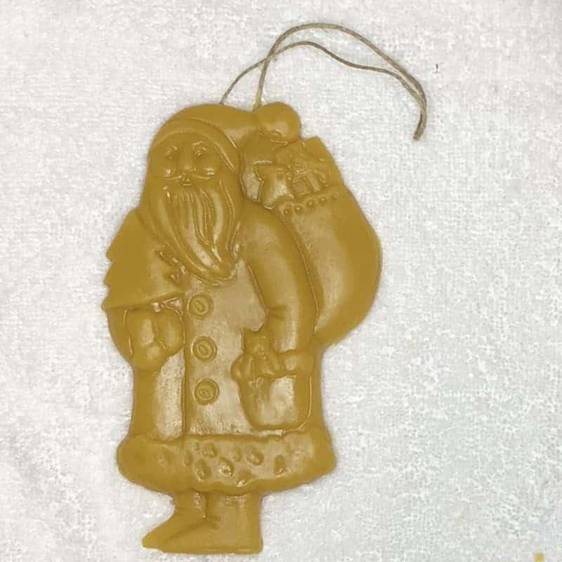 beeswax Christmas Ornament Santa
