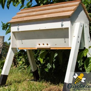 image of a large top bar hive for keeping bees
