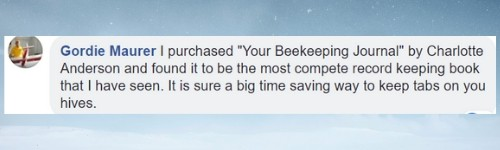 testimonial for beekeepers journal