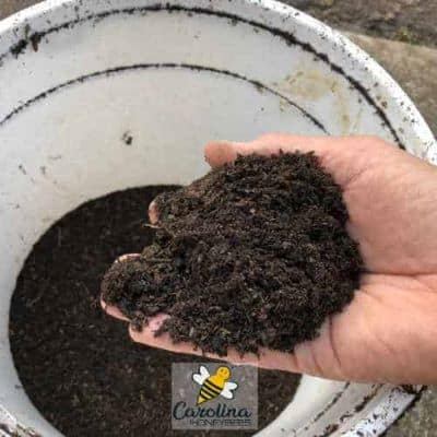potting soil sifted fine for use in making seed balls