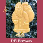 picture of diy beeswax Santa Christmas ornament