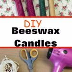 diy rolled beeswax candles