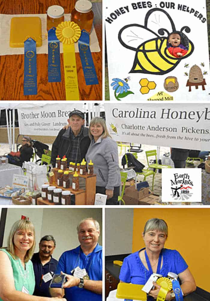 accomplishments charotte anderson blue ribbons, beekeeping booths, awards