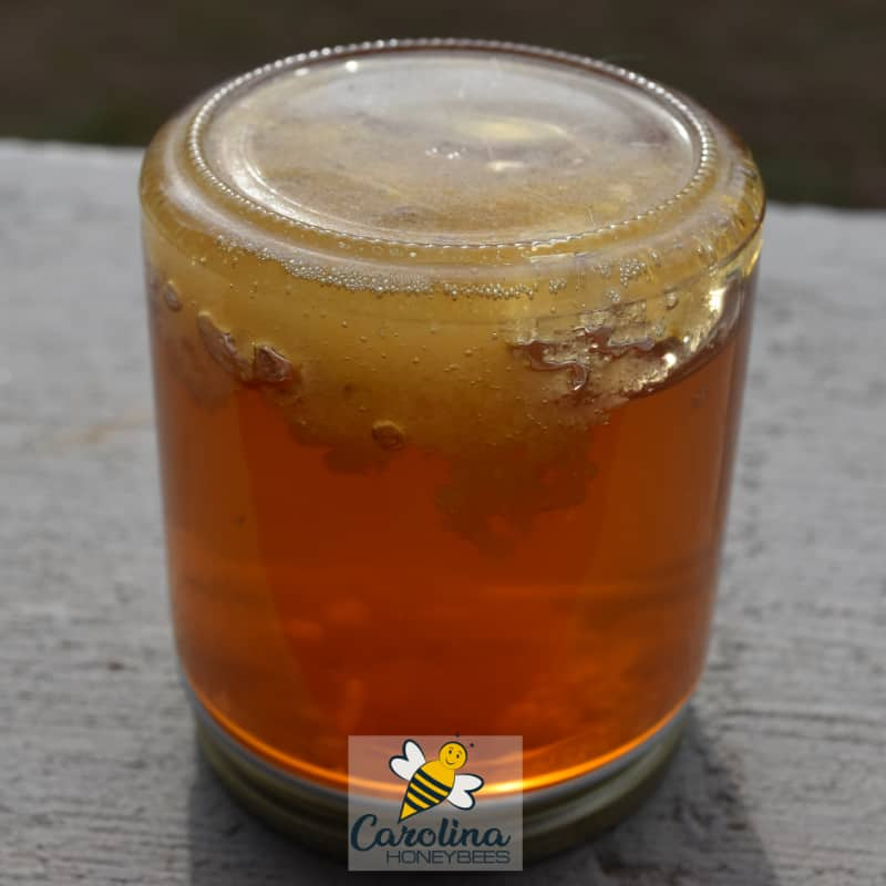 crystallized honey in a jar
