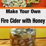 ingredients for fire cider with honey tonic