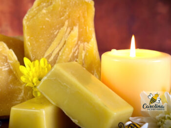 beeswax uses, candles and blocks of wax