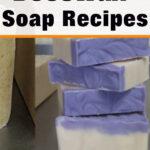 bars of cut homemade soap - beeswax soap recipes