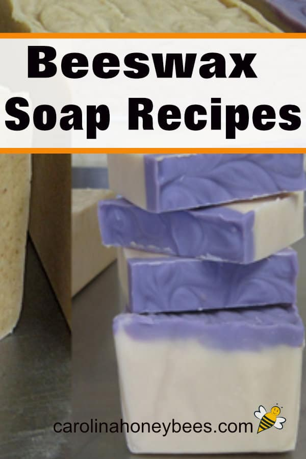 bars of cut homemade soap - beeswax soap recipes