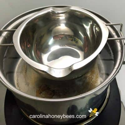 small double boiler for making crafts