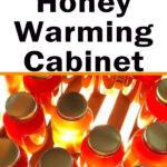 jars of crystallized honey - build a honey warming cabinet