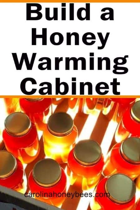 jars of crystallized honey - build a honey warming cabinet