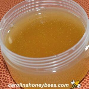 Warm honey burn salve recipe in container image.