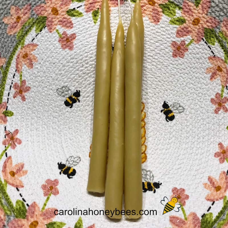 hand made beeswax candles