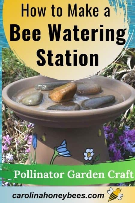 picture of clay pot how to make a bee watering station