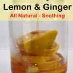 warm honey infused over lemon and ginger - soothing natural