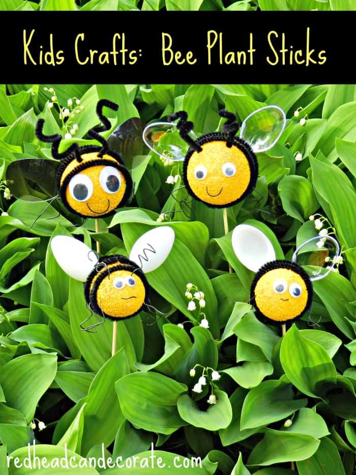Bee Flower Pot/Plant Sticks