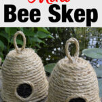 small bee skep craft project