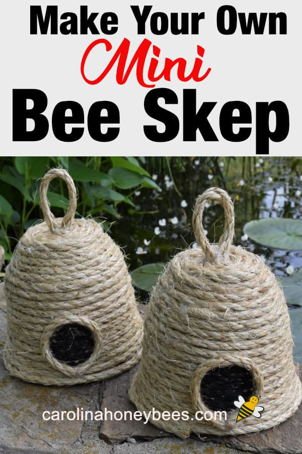 bee skep crafts - make your own mini bee skep