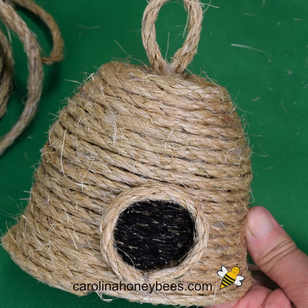 finished bee skep craft project