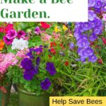 Colorful flowers in pots easy ways to make a bee garden image.