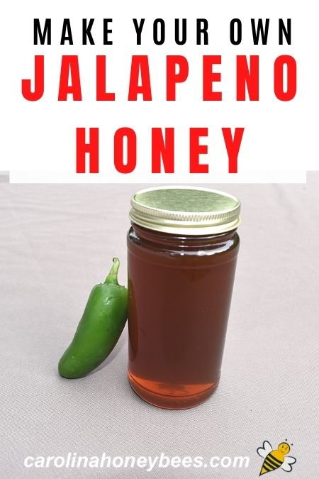jar of honey with pepper - make your own jalapeno honey