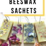 floral wax sachets -diy herbal beeswax sachets