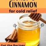 Jar of honey and cinnamon stick how to use honey and cinnamon for cold relief image.