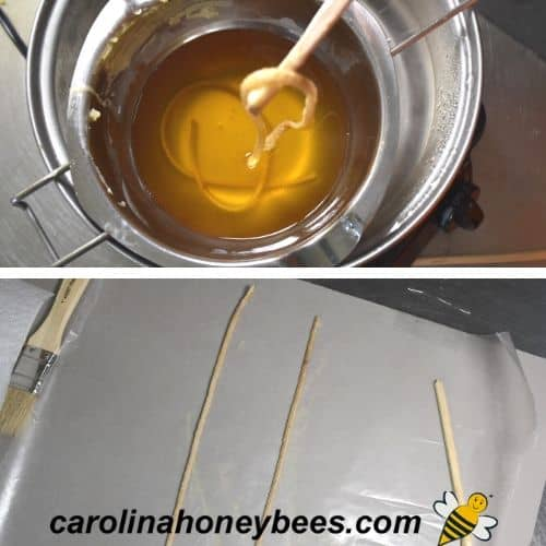 pickling wick for beeswax candle