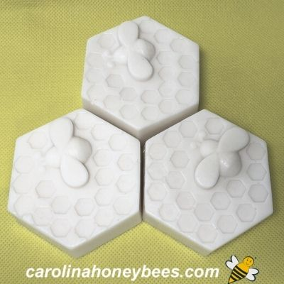 shaped bars of goat milk and honey soap