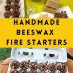 materials for handmade beeswax fire starters