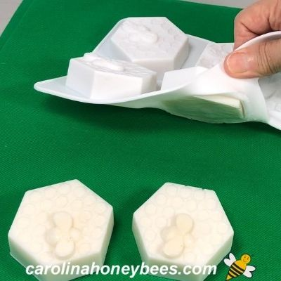 removing goat milk & honey soap from mold