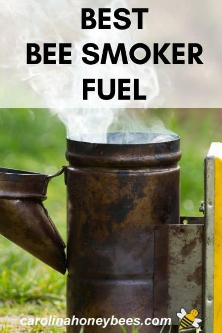 old bee hive smoker with white smoke - best bee smoker fuel