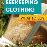 Beekeeper veil in yard protective beekeeping clothing image.