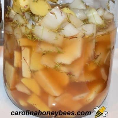storing fire cider in jar