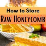 Chunks of fresh honeycomb ready to store image.