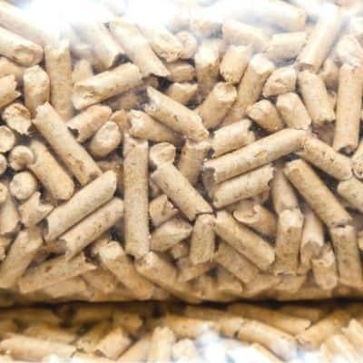 Hardwood pellets used as honey bee smoker fuel image.
