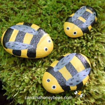 Easy DIY Bee Painted Rocks