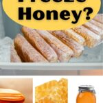 honey in freezer, honeycomb and jar of honey - can you freeze honey