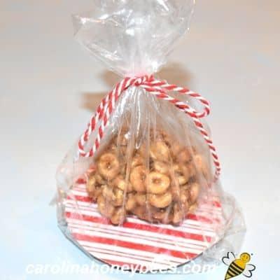 peanut butter honey snack in gift bag