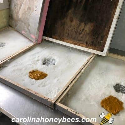 image of drying candy boards to feed bees