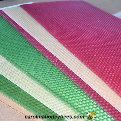 image of colorful bees wax sheets used for candles
