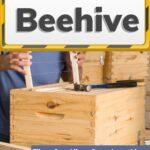 Beekeeper building homemade beehive image.